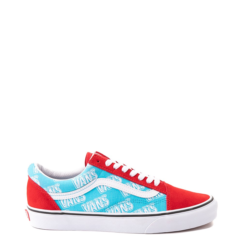 Vans Old Skool Retro Mart Skate Shoe - Red / Blue