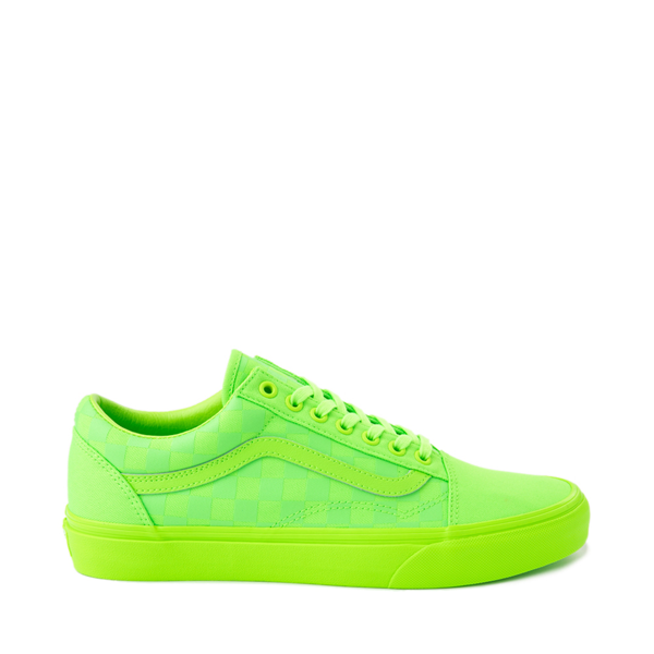 Vans Old Skool Tonal Checkerboard Skate Shoe - Green Gecko