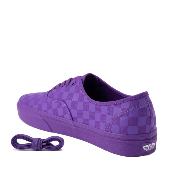 alternate view Vans Authentic Tonal Checkerboard Skate Shoe - Electric PurpleALT1