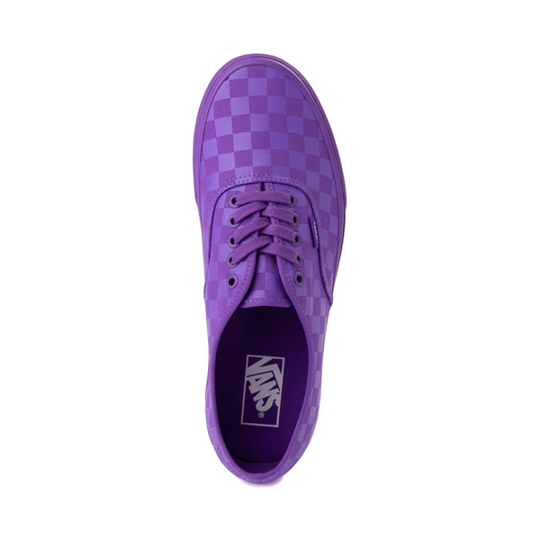 alternate view Vans Authentic Tonal Checkerboard Skate Shoe - Electric PurpleALT2