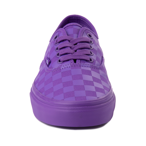 alternate view Vans Authentic Tonal Checkerboard Skate Shoe - Electric PurpleALT4