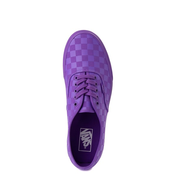 alternate view Vans Authentic Tonal Checkerboard Skate Shoe - Electric PurpleALT4B