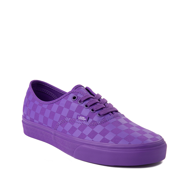 alternate view Vans Authentic Tonal Checkerboard Skate Shoe - Electric PurpleALT5