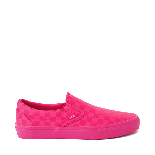 Vans Slip On Tonal Checkerboard Skate Shoe - Pink Glow