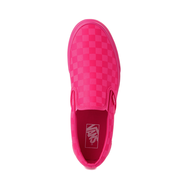 alternate view Vans Slip On Tonal Checkerboard Skate Shoe - Pink GlowALT2