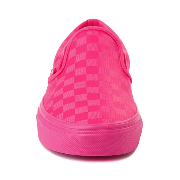 alternate view Vans Slip On Tonal Checkerboard Skate Shoe - Pink GlowALT4