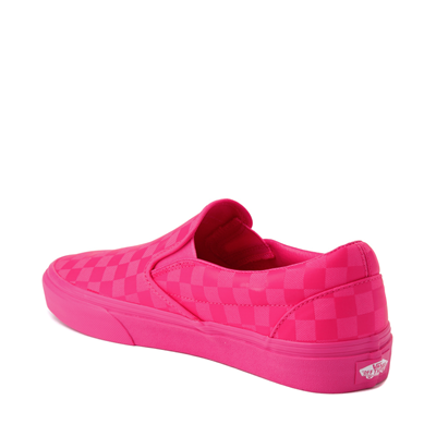 Alternate view of Vans Slip On Tonal Checkerboard Skate Shoe - Pink Glow