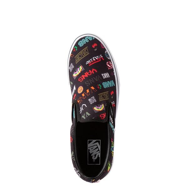 alternate view Vans Disruptive Classic Slip On Skate Shoe - BlackALT4B