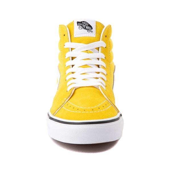 alternate view Vans Sk8 Hi Skate Shoe - Cyber YellowALT4