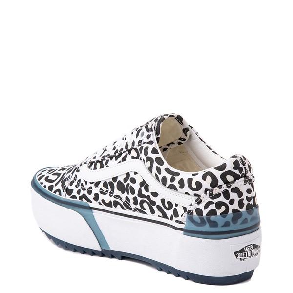 alternate view Vans Old Skool Stacked UV Ink Skate Shoe - LeopardALT1B