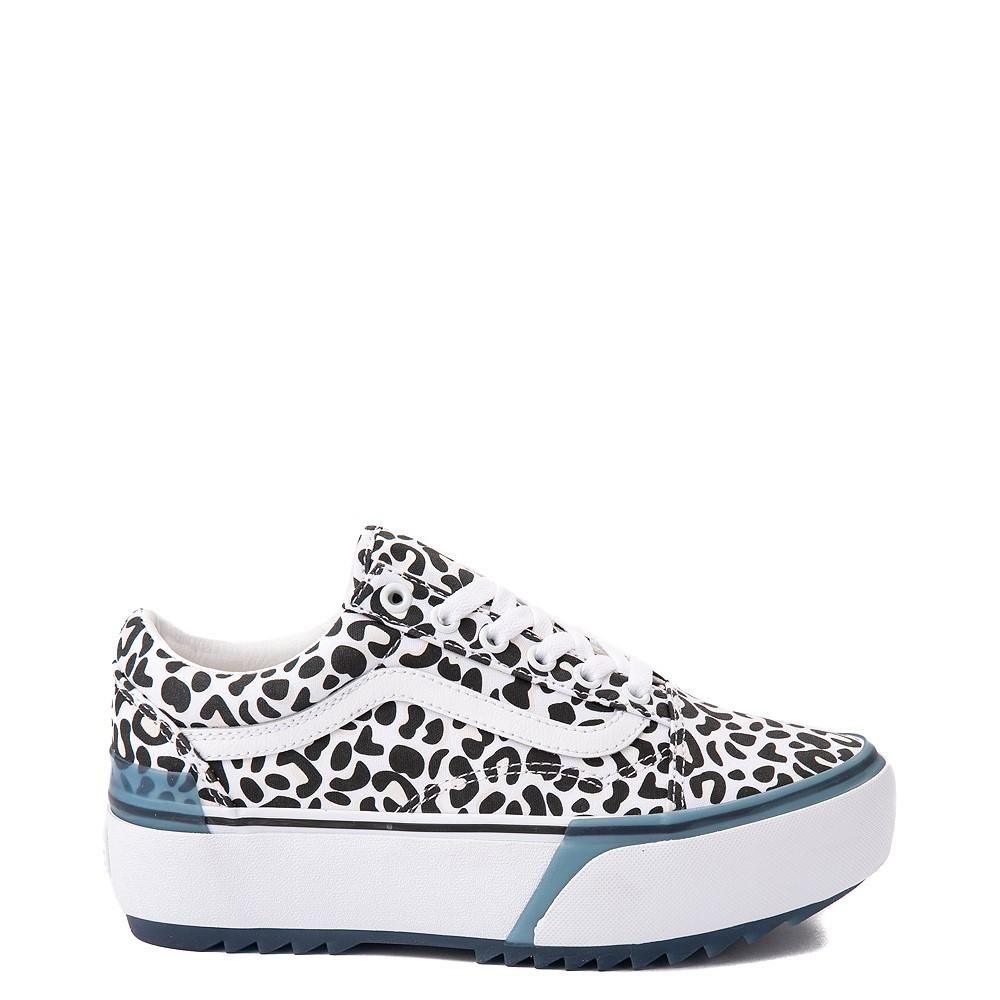 Vans Old Skool Stacked UV Ink Skate Shoe - Leopard