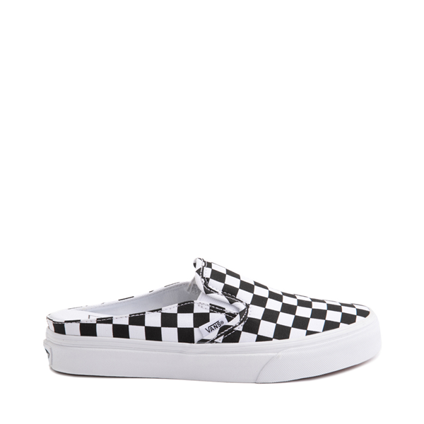 Main view of Vans Slip On Checkerboard Mule - White / Black
