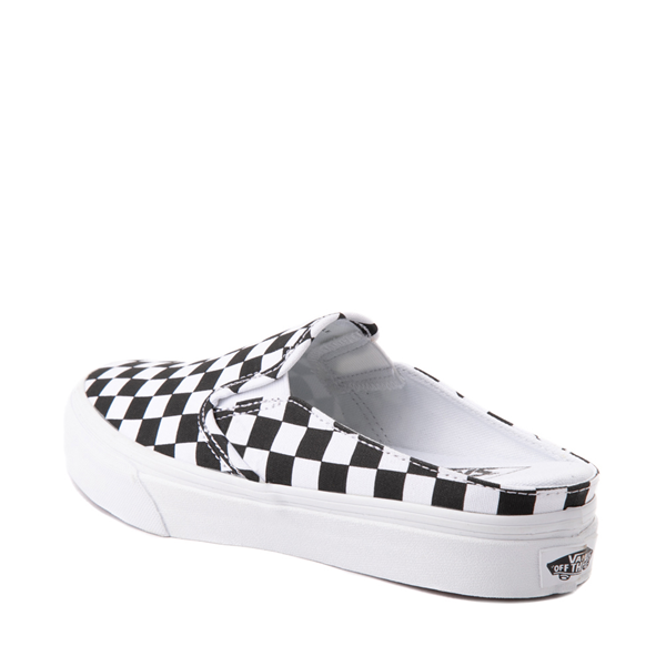 alternate view Vans Slip On Checkerboard Mule - White / BlackALT1