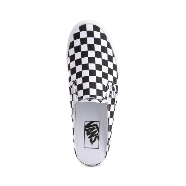 alternate view Vans Slip On Checkerboard Mule - White / BlackALT2