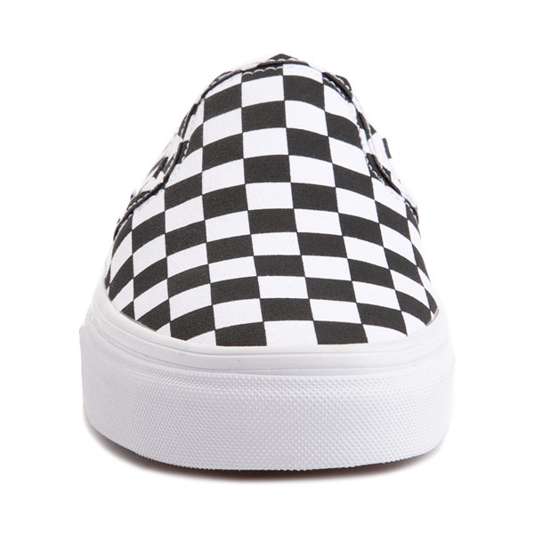 alternate view Vans Slip On Checkerboard Mule - White / BlackALT4