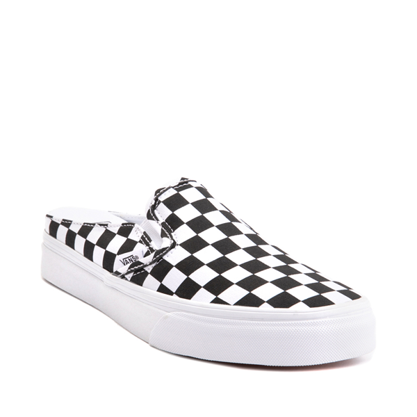 alternate view Vans Slip On Checkerboard Mule - White / BlackALT5