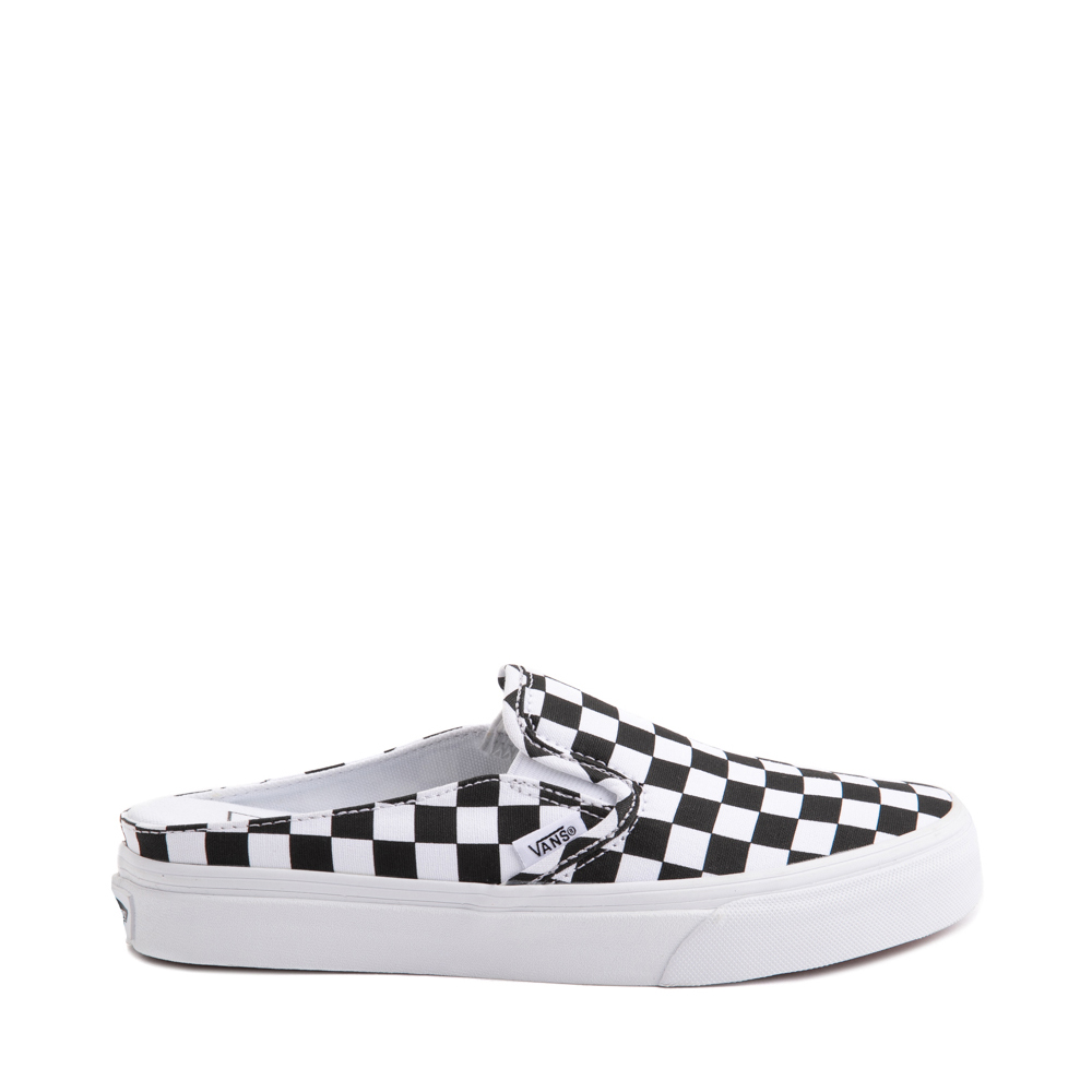 Vans Slip On Checkerboard Mule - White / Black