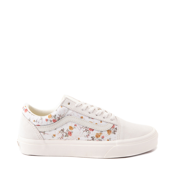 Main view of Vans Old Skool Skate Shoe - White / Vintage Floral