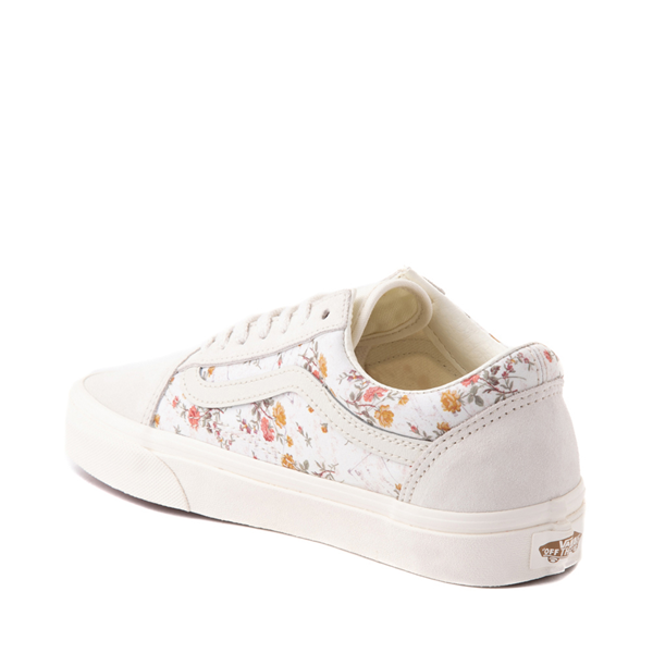 alternate view Vans Old Skool Skate Shoe - White / Vintage FloralALT1