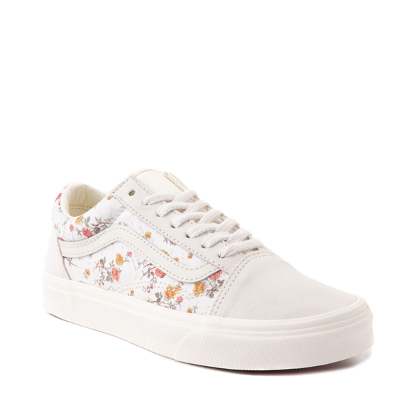 alternate view Vans Old Skool Skate Shoe - White / Vintage FloralALT5