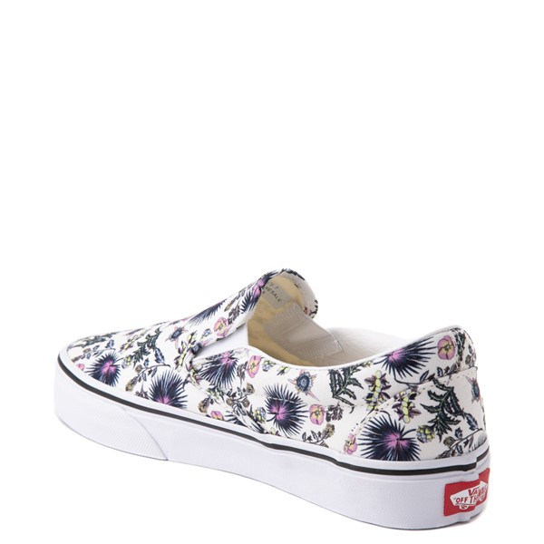 alternate view Vans Slip On Skate Shoe - White / Paradise FloralALT1