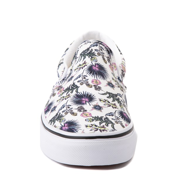 alternate view Vans Slip On Skate Shoe - White / Paradise FloralALT4