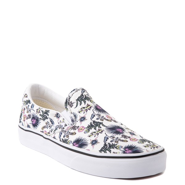 alternate view Vans Slip On Skate Shoe - White / Paradise FloralALT5