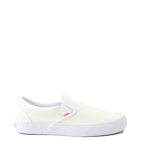 Main view of Vans Slip On Skate Shoe - White / UV Glitter