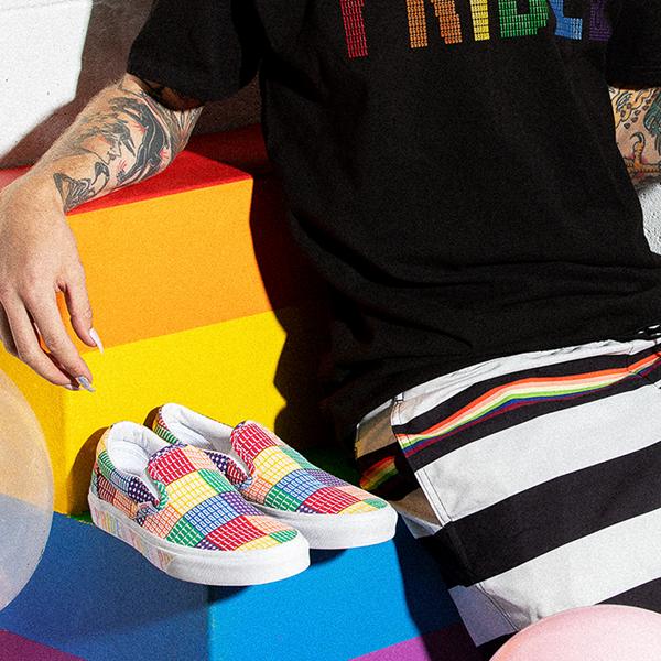 alternate view Vans Slip On Pride Skate Shoe - MulticolorALT1B