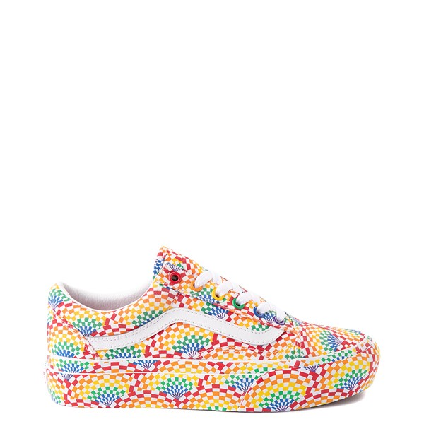 Main view of Vans Old Skool Pride Platform Skate Shoe - Rainbow