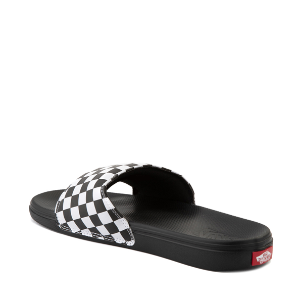 alternate view Vans La Costa Slide On Checkerboard Sandal - Black / WhiteALT2