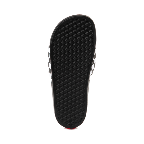 alternate view Vans La Costa Slide On Checkerboard Sandal - Black / WhiteALT3