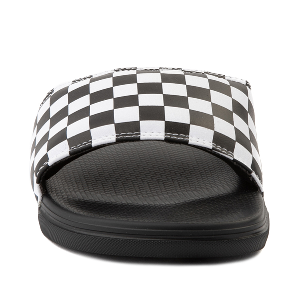 alternate view Vans La Costa Slide On Checkerboard Sandal - Black / WhiteALT4