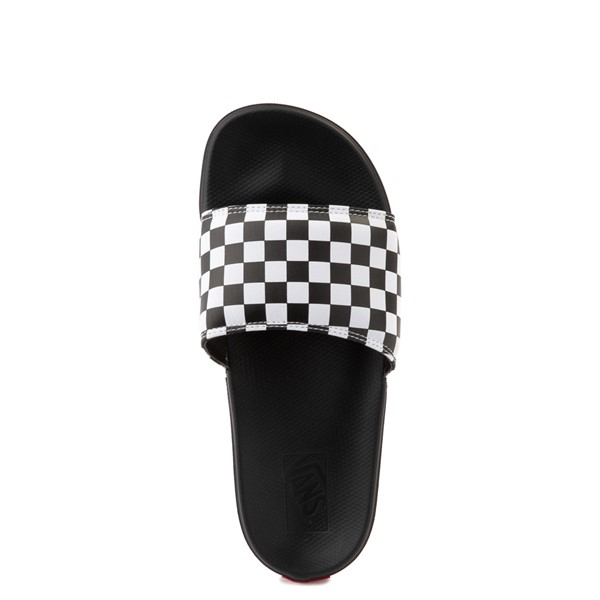 alternate view Vans La Costa Slide On Checkerboard Sandal - Black / WhiteALT4B