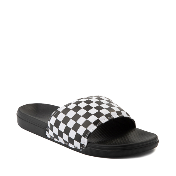 alternate view Vans La Costa Slide On Checkerboard Sandal - Black / WhiteALT5