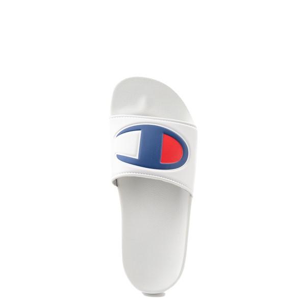 alternate view Champion IPO Slide Sandal - Big Kid - WhiteALT4B