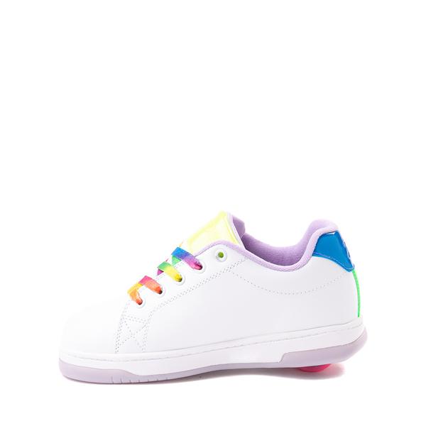 alternate view Heelys Glower Skate Shoe - Little Kid / Big Kid - White / RainbowALT1