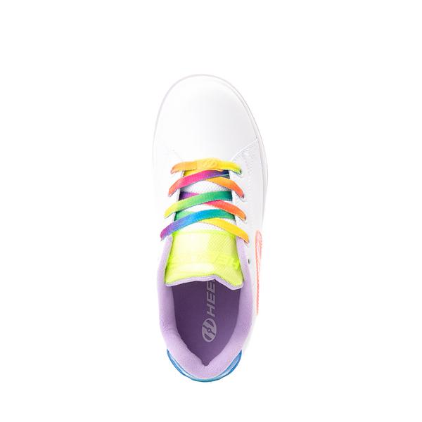 alternate view Heelys Glower Skate Shoe - Little Kid / Big Kid - White / RainbowALT2