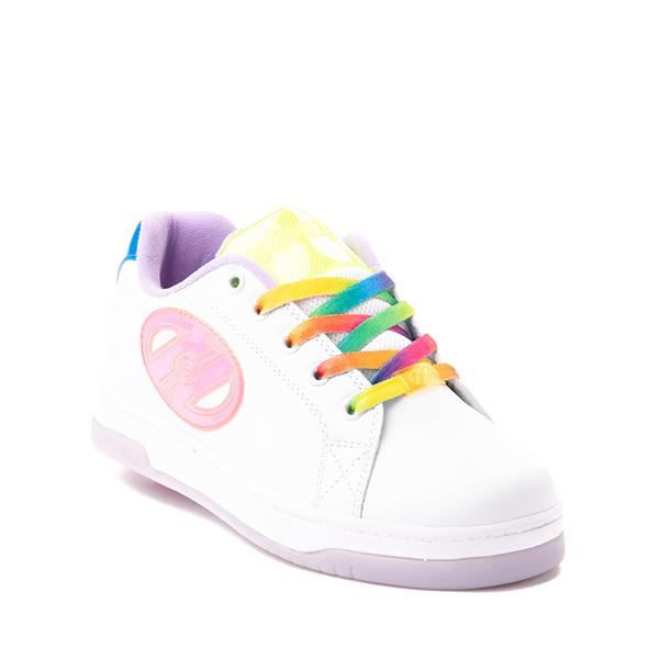 alternate view Heelys Glower Skate Shoe - Little Kid / Big Kid - White / RainbowALT5