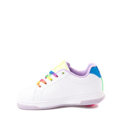 Alternate view of Heelys Glower Skate Shoe - Little Kid / Big Kid - White / Rainbow