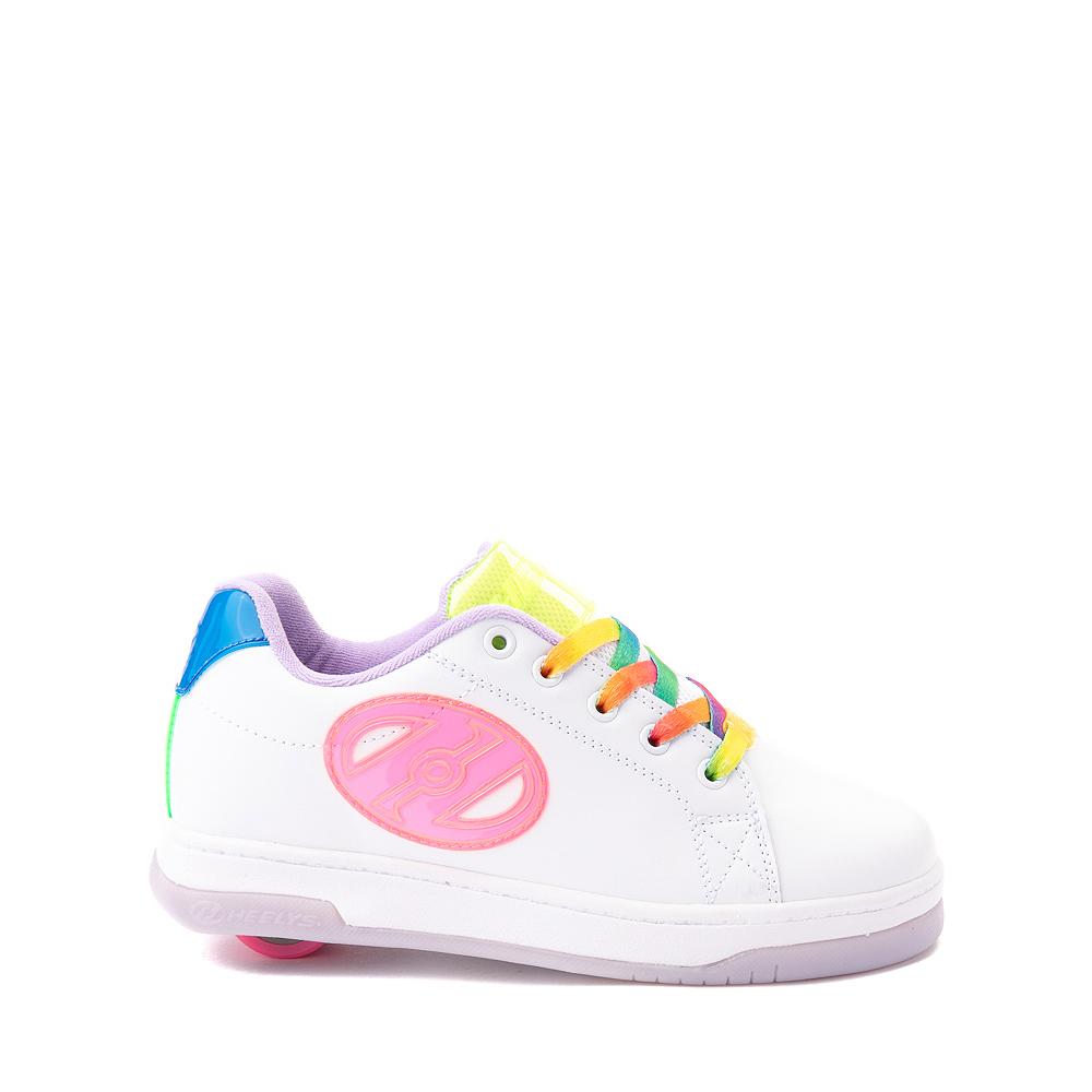 Heelys Glower Skate Shoe - Little Kid / Big Kid - White / Rainbow