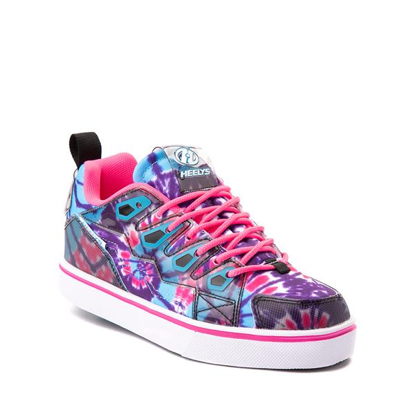 alternate view Heelys Tracer Skate Shoe - Little Kid / Big Kid - Blue / Neon Pink Tie DyeALT5