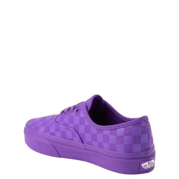 alternate view Vans Authentic Tonal Checkerboard Skate Shoe - Little Kid - Electric PurpleALT1
