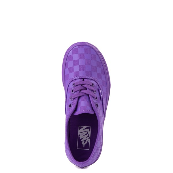 alternate view Vans Authentic Tonal Checkerboard Skate Shoe - Little Kid - Electric PurpleALT2