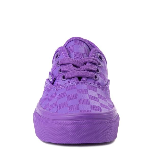 alternate view Vans Authentic Tonal Checkerboard Skate Shoe - Little Kid - Electric PurpleALT4