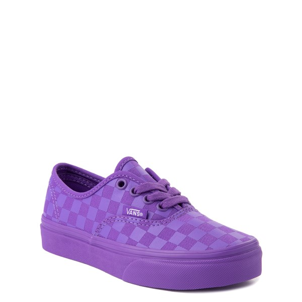 alternate view Vans Authentic Tonal Checkerboard Skate Shoe - Little Kid - Electric PurpleALT5