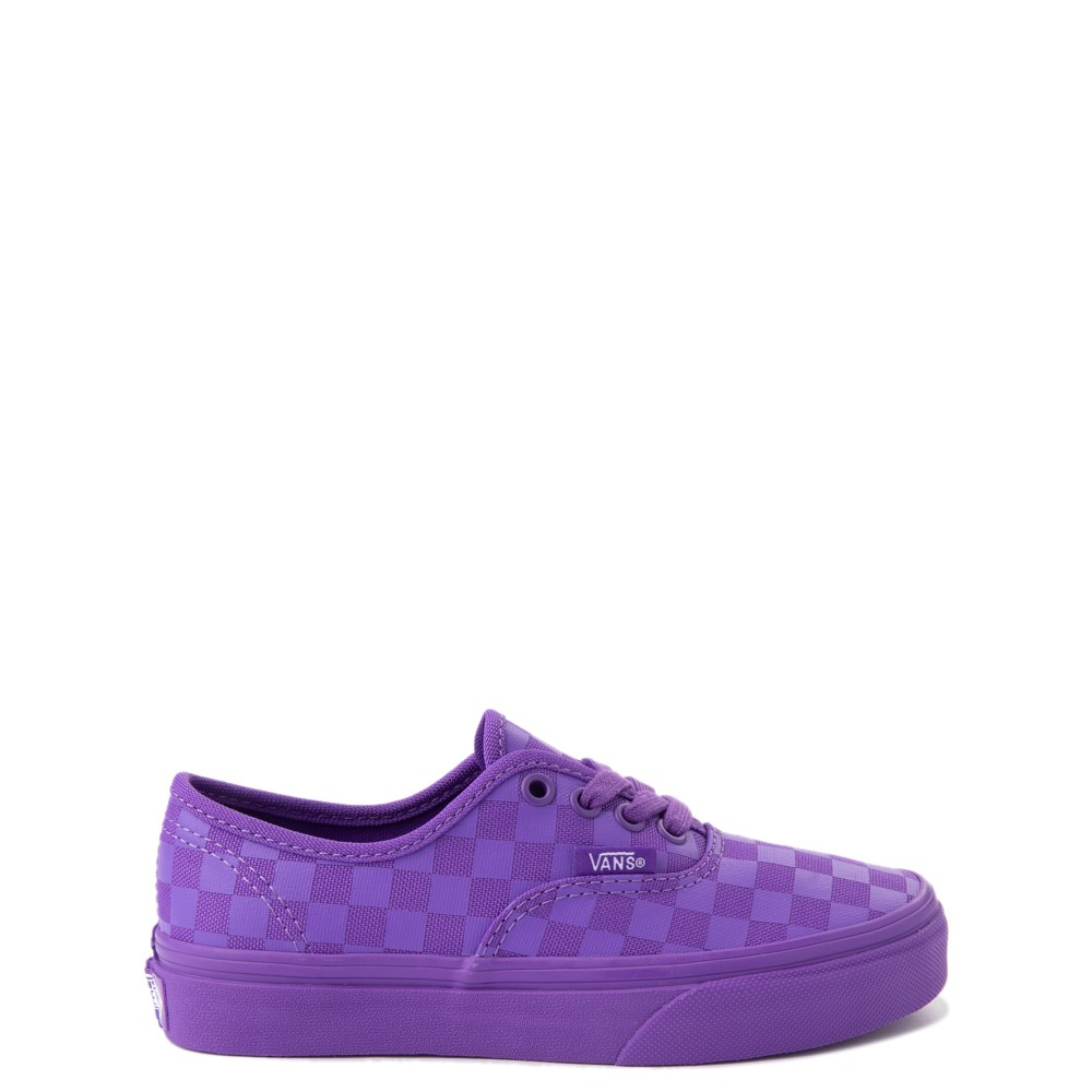 Vans Authentic Tonal Checkerboard Skate Shoe - Little Kid - Electric Purple