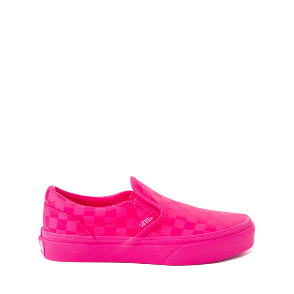 Vans Slip On Tonal Checkerboard Skate Shoe - Little Kid - Pink Glow