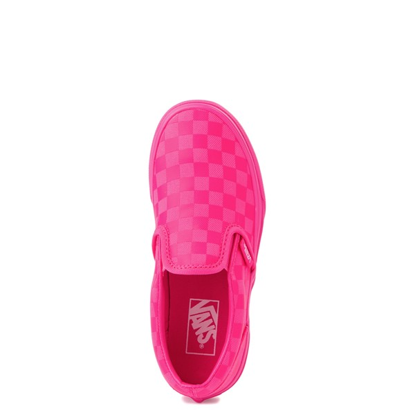 alternate view Vans Slip On Tonal Checkerboard Skate Shoe - Little Kid - Pink GlowALT4B