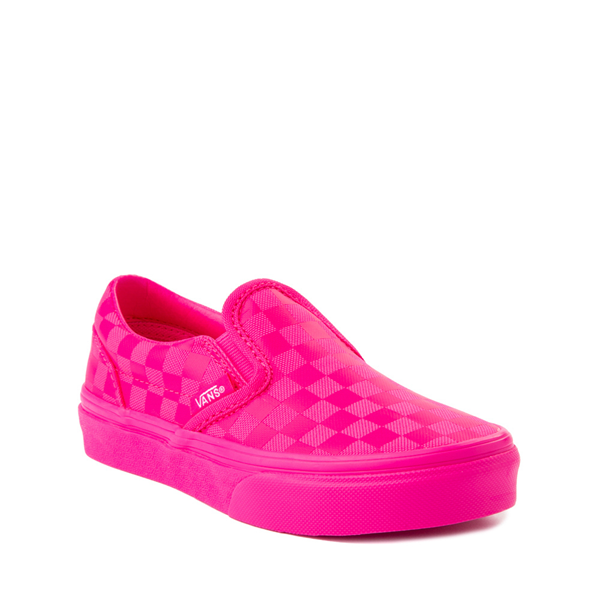 alternate view Vans Slip On Tonal Checkerboard Skate Shoe - Little Kid - Pink GlowALT5